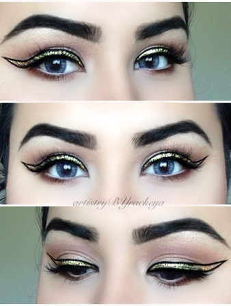 GRAPHIC GOLD LINER