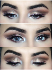 GLITTER LINER GLAM BRIDAL LOOK