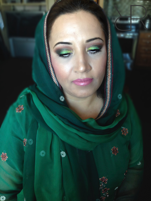 Two tone green Classic Lift! - South Asian GTA Makeup Artist